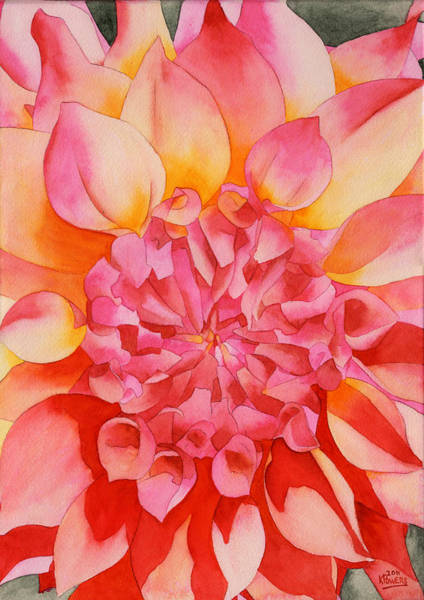 Painting - Friendship Dahlia by Ken Powers
