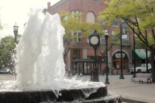 Park Bench Digital Art - Friendship Fountain by Matt McCune