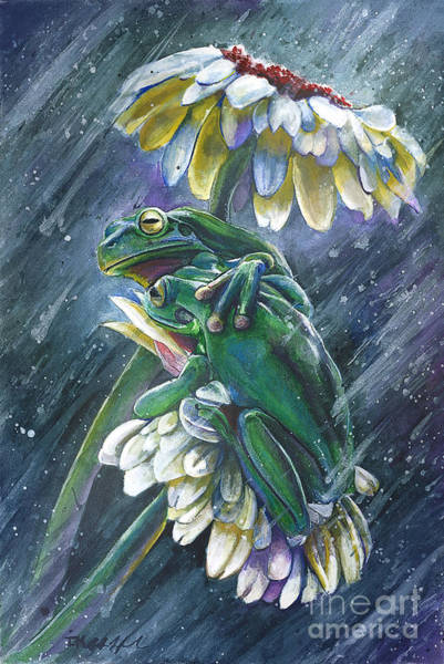 Frog Painting - Friendship by Michael Volpicelli
