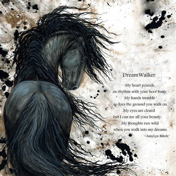 Wall Art - Painting - Friesian Dreamwalker Horse by AmyLyn Bihrle