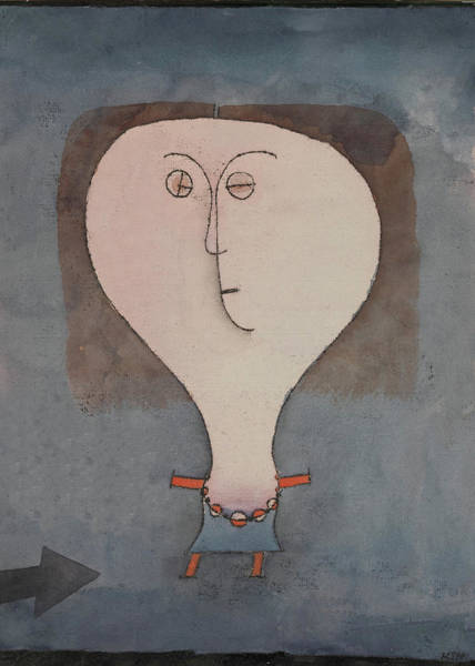Painting - Fright Of A Girl By Paul Klee 1922 by Paul Klee