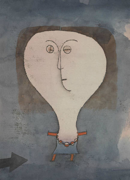 Painting - Fright Of A Girl by Paul Klee
