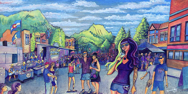 Painting - Frisco Bbq Festival 2017 by David Sockrider