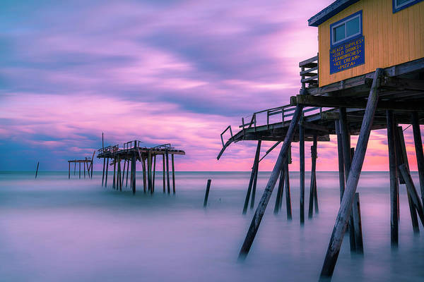 Photograph - Frisco Fishing Pier Sunset by Ranjay Mitra