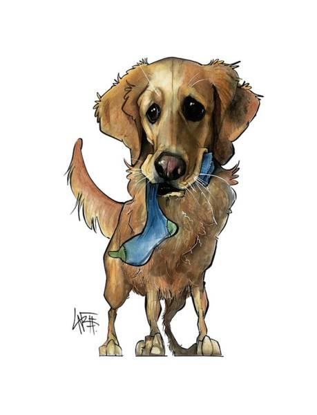 Pet Portrait Drawing - Fritz 3330 by John LaFree