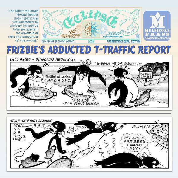Digital Art - Frizbie's Abducted Traffic Report Pd by Dawn Sperry