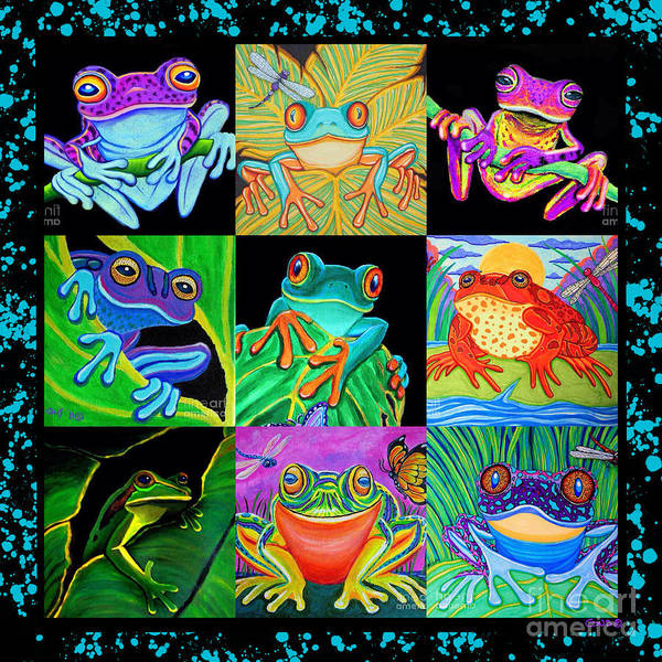 Wall Art - Painting - Frog Collage by Nick Gustafson