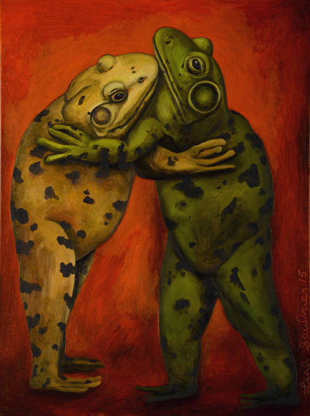 Painting - Frog Dancers by Leah Saulnier The Painting Maniac