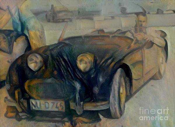 Super Car Mixed Media - Frog Eyed Sprite by Douglas Sacha