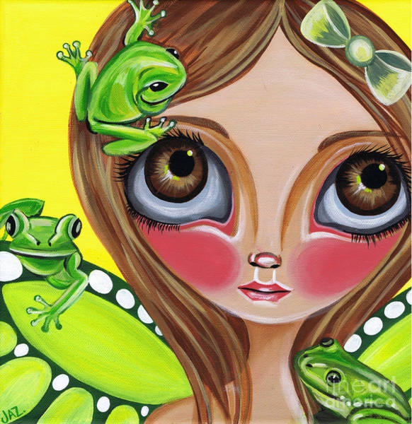 Kitsch Painting - Frog Fairy by Jaz Higgins