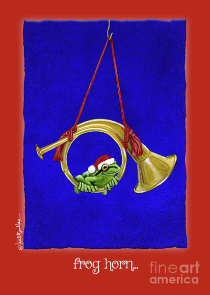 Painting - Frog Horn... by Will Bullas