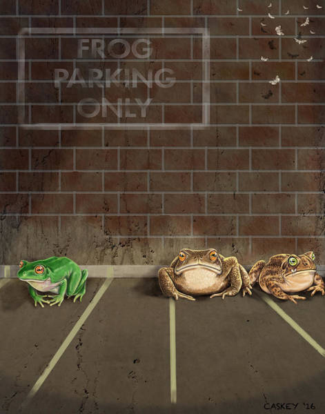 Painting - Frog Parking All Others Will Be Toad by Bethany Caskey