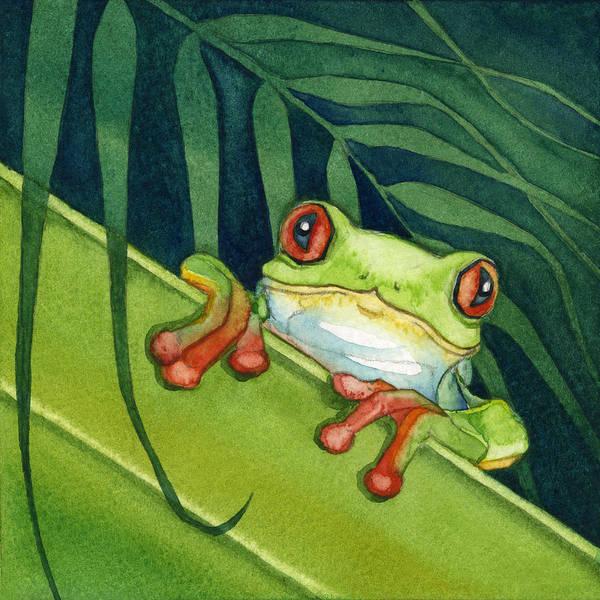 Frog Peek Art Print
