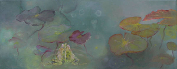 Wall Art - Painting - Frog Pond by Eve Corin
