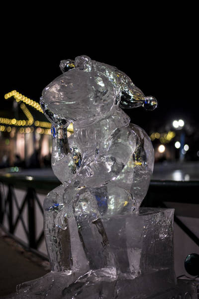 Photograph - Frog Pond Ice Sculpture Boston Common by Toby McGuire