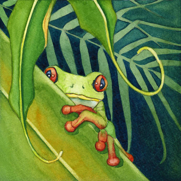 Painting - Frog The Timid One by Lyse Anthony
