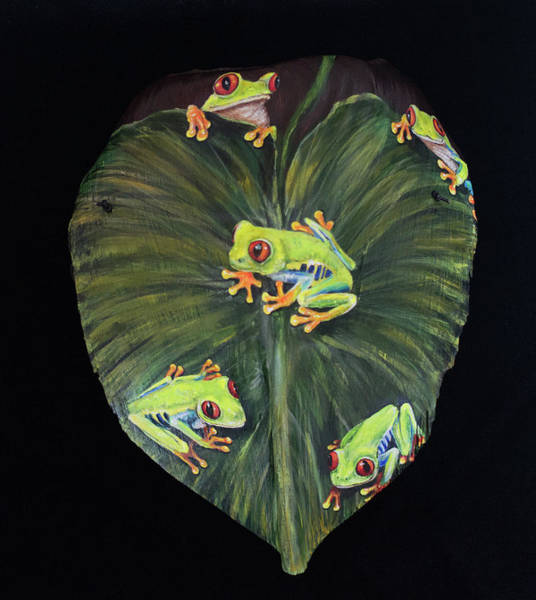 Painting - Froggy Five by Nancy Lauby