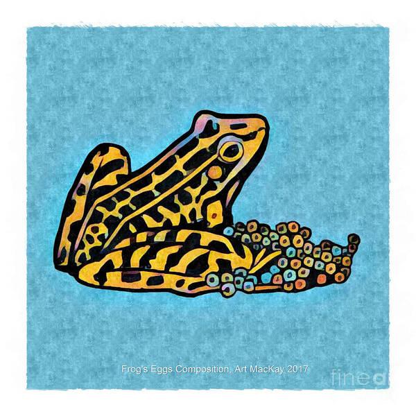 Digital Art - Frog's Eggs by Art MacKay