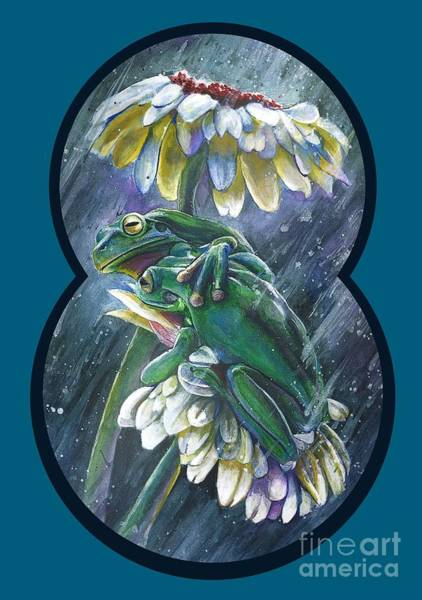 Wall Art - Mixed Media - Frogs- Optimized For Shirts And Bags by Michael Volpicelli