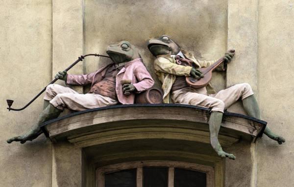 Wall Art - Photograph - Frogs Sculpture by Jaroslaw Blaminsky