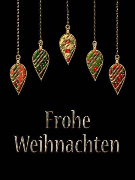 Digital Art - Frohe Weihnachten German Merry Christmas by Movie Poster Prints