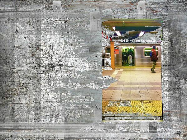 Mixed Media - From A Subway Car by Tony Rubino