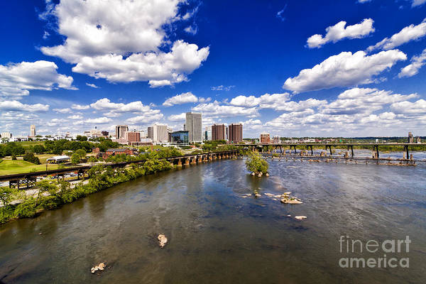 James River Photograph - From Afar by Tim Wilson