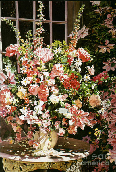 Painting - From An English Country Garden by David Lloyd Glover