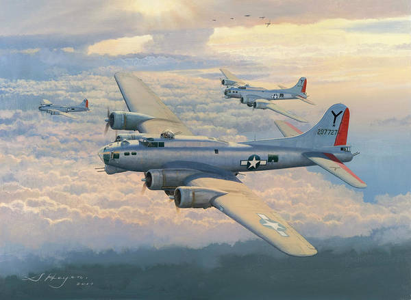 Bomber Painting - From Bad To Worse by Steven Heyen