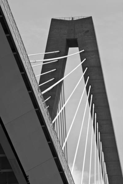 Cable-stayed Bridge Photograph - From Below The Arthur Ravenel Jr. Bridge by Dustin K Ryan