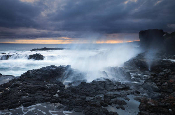 Blowhole Photograph - From Beneath by Mike  Dawson