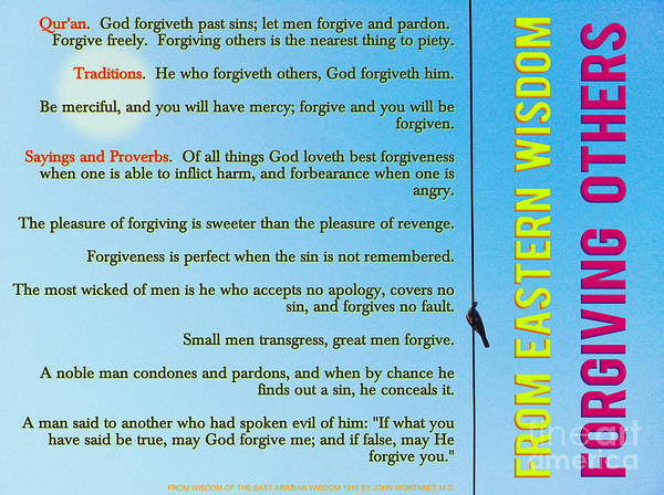 Painting - From Eastern Wisdom - Forgiving Others by Celestial Images