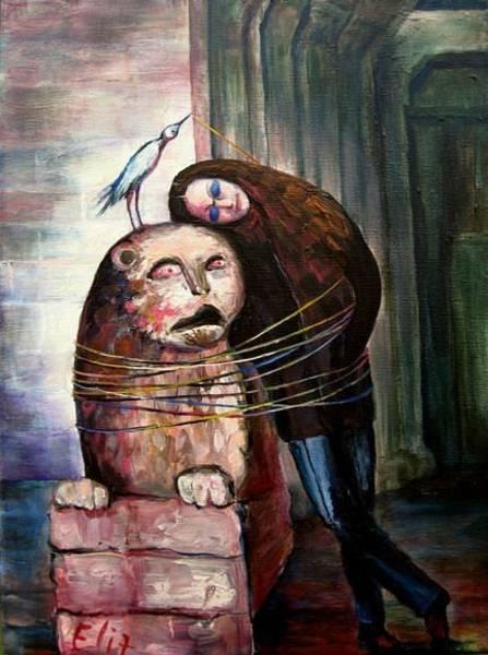 Entangled Painting - From Flesh To Stone by Elisheva Nesis