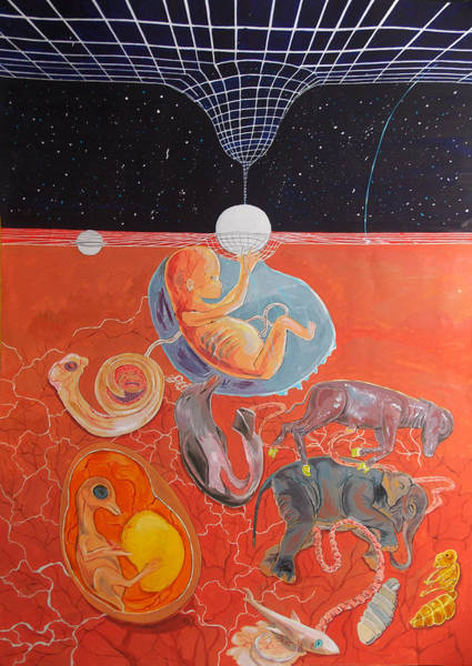 Wall Art - Painting - From Gestation To The Evolution Of Abstract Thinking by Lazaro Hurtado