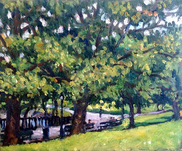 Painting - From Inwood Hill Park Nyc by Thor Wickstrom