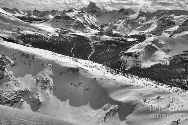 Photograph - From Lookout Mountain To Mt. Assiniboine Black And White by Adam Jewell