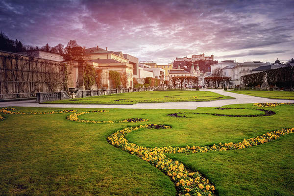 Wall Art - Photograph - From Mirabell Gardens To Salzburg Castle  by Carol Japp
