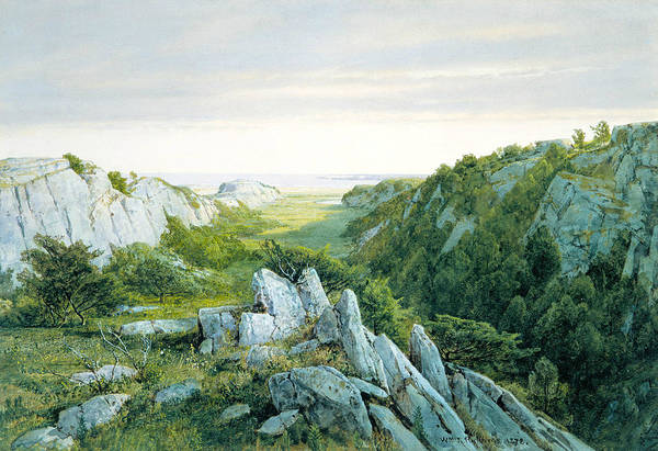 Wall Art - Painting - From Paradise To Purgatory, Newport by William Trost Richards