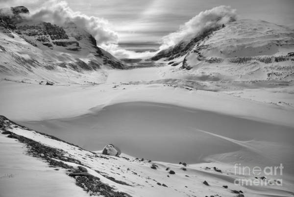 Photograph - From Rubble To Snow Capped Peaks Black And White by Adam Jewell