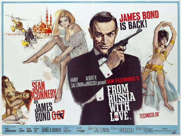 From Russia With Love Photograph - From Russia With Love James Bond Lobby Poster 1963 by Daniel Hagerman