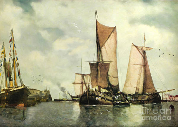 Wall Art - Digital Art - From Sail To Steam - Transitions by Lianne Schneider