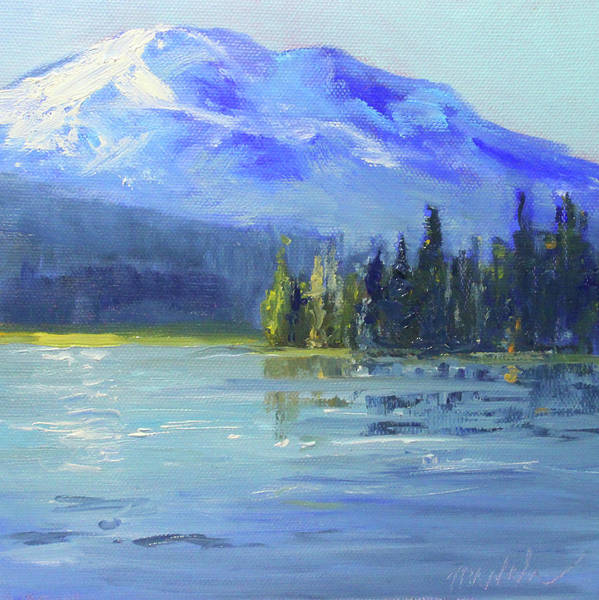 Wall Art - Painting - From Sparks Lake by Nancy Merkle