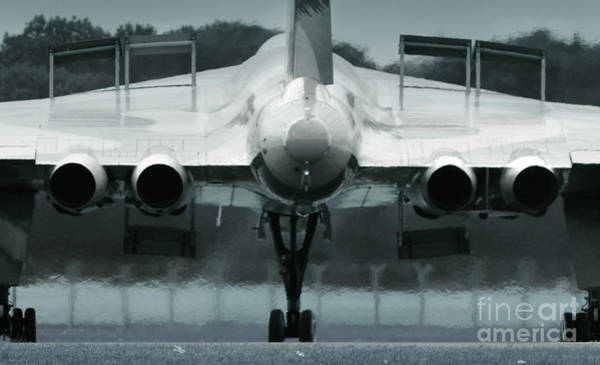 Avro Vulcan Wall Art - Photograph - From The Back by Angel Ciesniarska