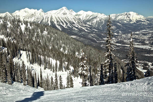 Photograph - From The Fernie Slopes To Towering Mountain Peaks by Adam Jewell