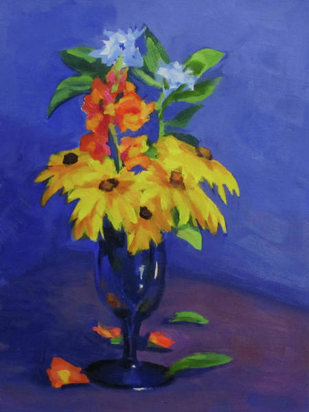 Snapdragons Painting - From The Garden by Karen Ilari
