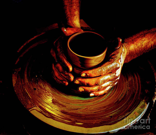 Potters Wheel Wall Art - Photograph - From The Hands Of An Artist by Steven Digman