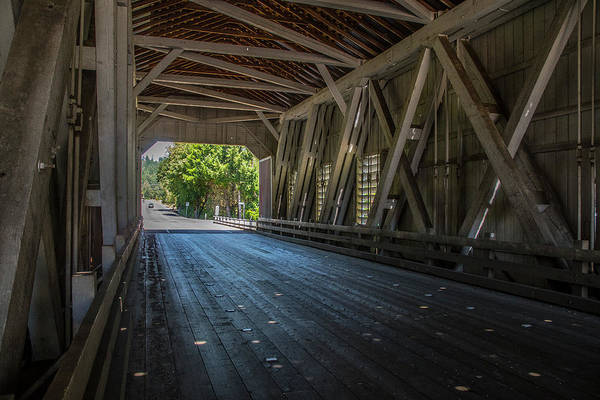 Photograph - From The Inside Looking Out - Shimanek Bridge by Matthew Irvin