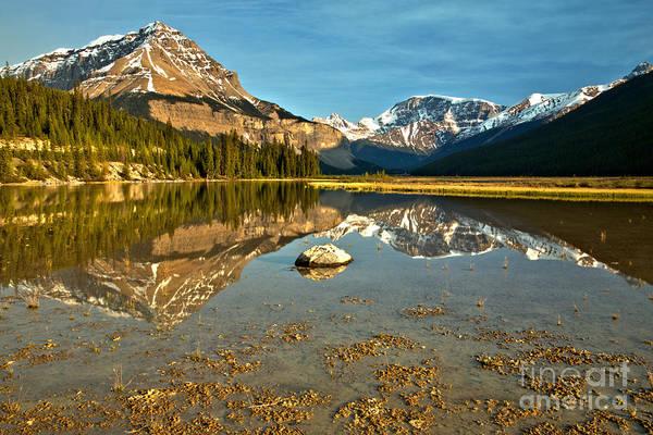 Photograph - From The Lake Shore To Chephren Peak by Adam Jewell
