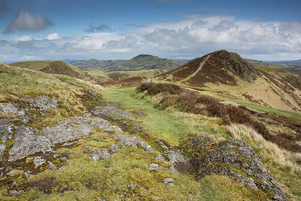 Church Stretton Wall Art - Photograph - From The Long Mynd, Looking East by Gruffydd Thomas