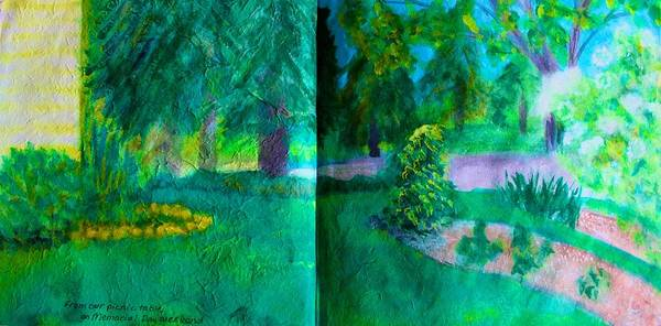 Painting - From The Picnic Table On Memorial Day by Polly Castor
